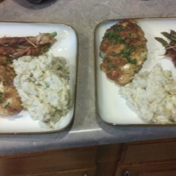 Feta and Bacon Stuffed Chicken with Onion Mashed Potatoes - BigOven
