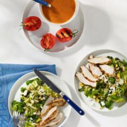 Feta, Corn and Chicken Salad with Smoky Tomato Dressing