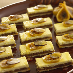 Fig bars with Goat Cheese