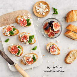 Fig, Feta and Mint Crostini