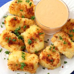 Fish Nuggets with Bang Bang Sauce