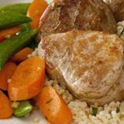Five-Spice Pork with Gingered Vegetables