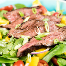 Flank Steak with Fresh Greens Recipe