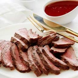 Flat Iron Steak with Red Wine Sauce