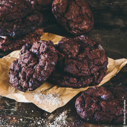 Flourless Smoked Sea Salt and Dark Chocolate Chip Cookies