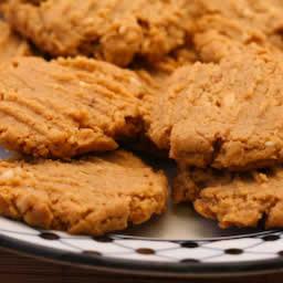 Flourless, Sugar-Free Peanut Butter Cookies