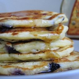 Fluffy Blueberry Buttermilk Pancakes