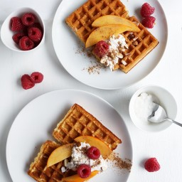 Fluffy Vegan Breakfast Waffles