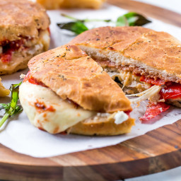 Focaccia Three-Cheese Italian Grilled Cheese