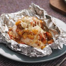 Foil-Pack Bruschetta Chicken Bake