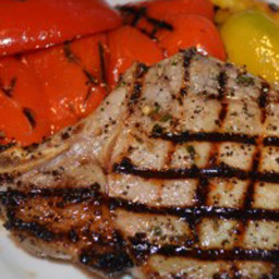 Foodie Friday: Grilled Center Cut Pork Chops with Bell Peppers