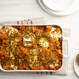 Four-Cheese Baked Pasta with Sun-Dried Tomatoes