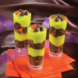 Freaky Halloween Cake and Pudding Shooters