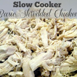 Freezer Meal Starter: Slow Cooker Basic Shredded Chicken Filling