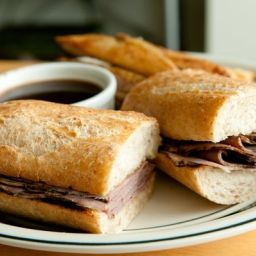 French Dip Roast Beef Sandwich