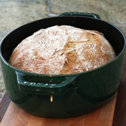 French Country Bread, No Knead