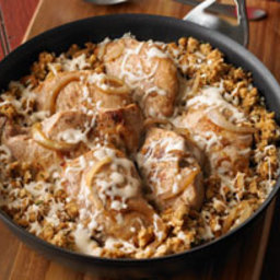 French Onion-Pork Chop Skillet