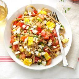 Fresh Corn and Tomato Fettuccine Recipe