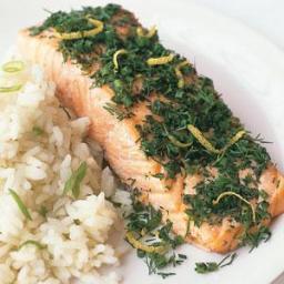 Fresh-Herb Salmon With Jasmine Rice