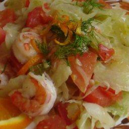Fresh Shrimp And Fennel Saute
