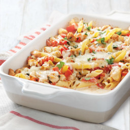 Fresh Tomato and Chicken Pasta Bake