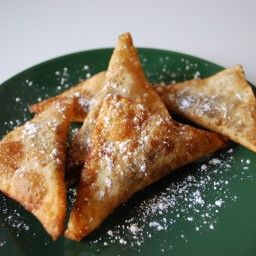 Fried Chocolate and Banana Ravioli