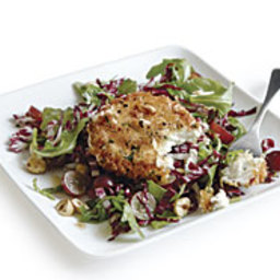 Fried Goat Cheese Salad with Grapes and Hazelnuts