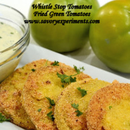 Fried Green Tomatoes with Lemon- Herb Aioli