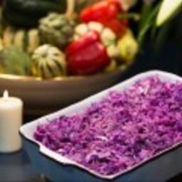 Fried Purple Cabbage