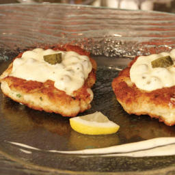 Fried Norwegian Salmon Cakes and Remoulade Sauce