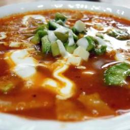 Frontera Grill's Toasted Tortilla Soup With Fresh Cheese