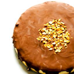 Frozen Chocolate Peanut Butter Cake with Chocolate Quinoa Crust