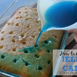 Frozen Party Idea ~ Blue Jello Cake #Frozen