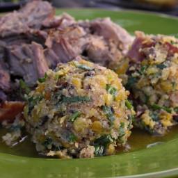 Funky Mofongo with Sopa de Pollo and Puerto Rican Roast Pork