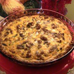 Garden Soysage Quiche With Walnut Crust
