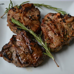 Garlic and Rosemary Grilled Lamb Chops