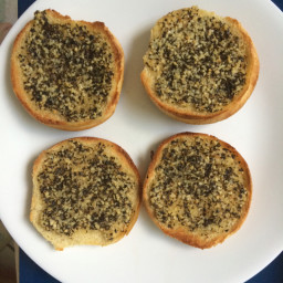 Garlic bread using those leftover hamburger buns
