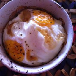Garlic mushroom baked egg