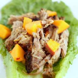 Garlic Roasted Pork Shoulder Lettuce Wraps