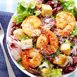 Garlic Shrimp Caesar Salad