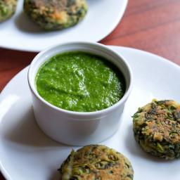 garlic chives chutney - hara lahsun chutney