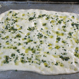 Garlic Focaccia Bread with Thyme