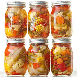 Garlicky Pickled Mixed Veggies