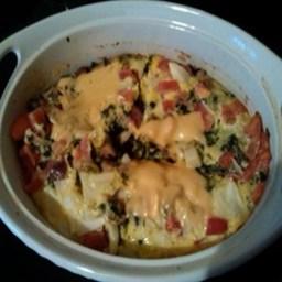 Garlicky Ham, Mushroom, and Spinach Frittata