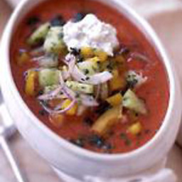 Gazpacho with Cilantro Cream