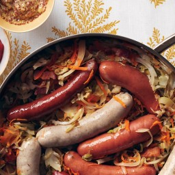 German Sausages With Quick Kraut and Curry Ketchup