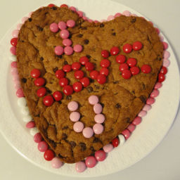 Giant Heart Chocolate Chip Cookie