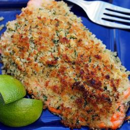 Ginger and Lime Crusted Salmon