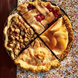 Ginger Apple-Walnut Crumble Pie