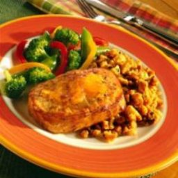 Ginger Pork and Stuffing Skillet